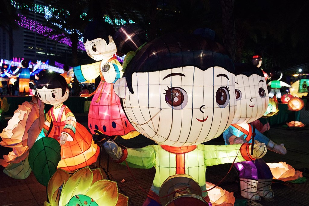 Larger-than-life lanterns descend on Victoria Park