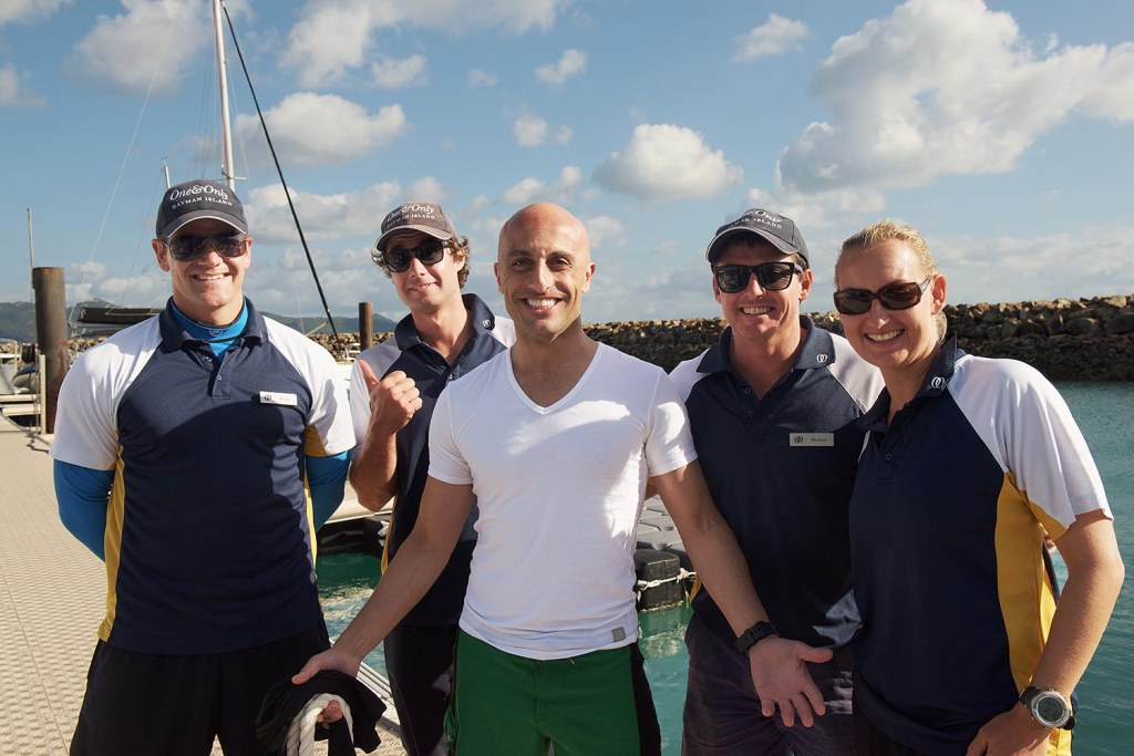 Mark, with our super-friendly boat crew and reef guides