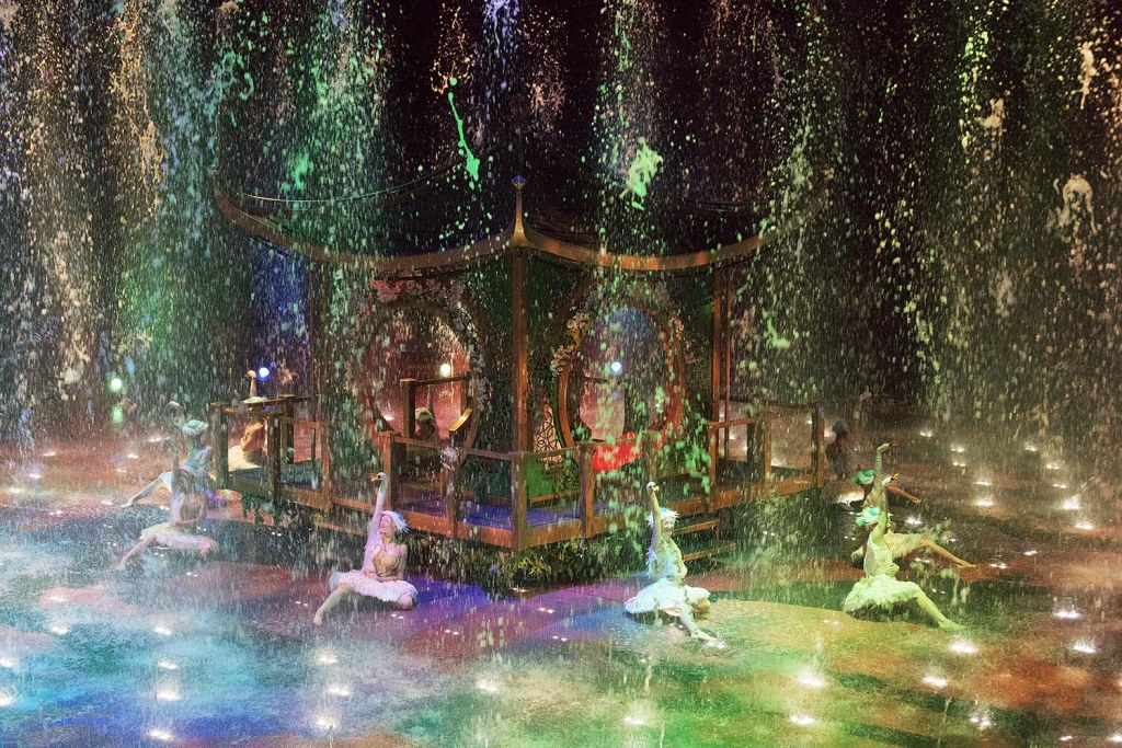 'Rain' covers the watery stage at House of Dancing Water
