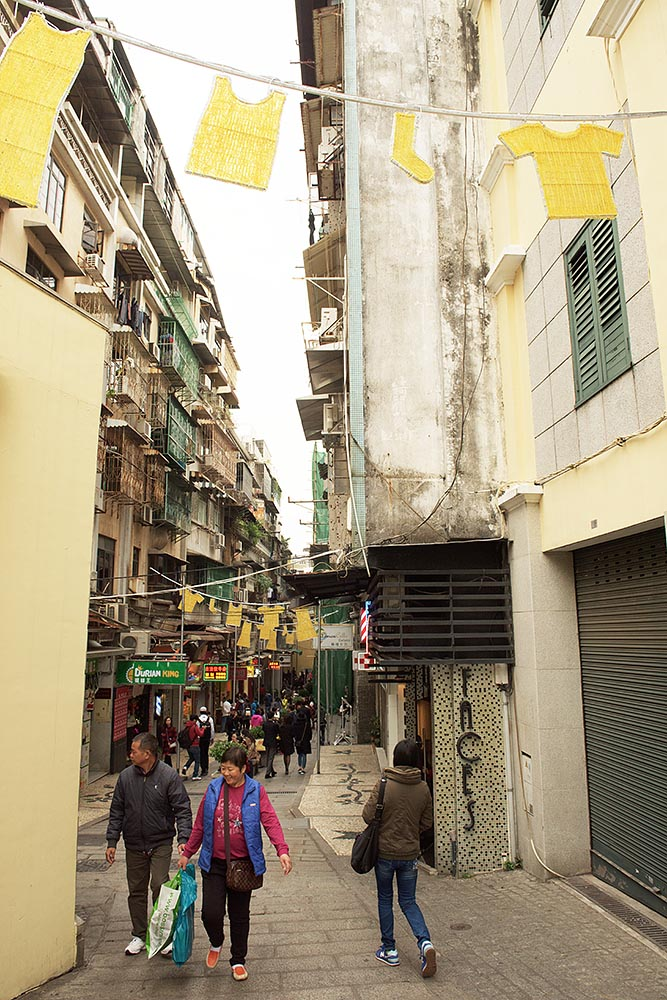 A narrow street near Lou Kau Mansion